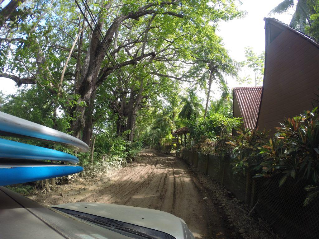 Driving to Cabuya