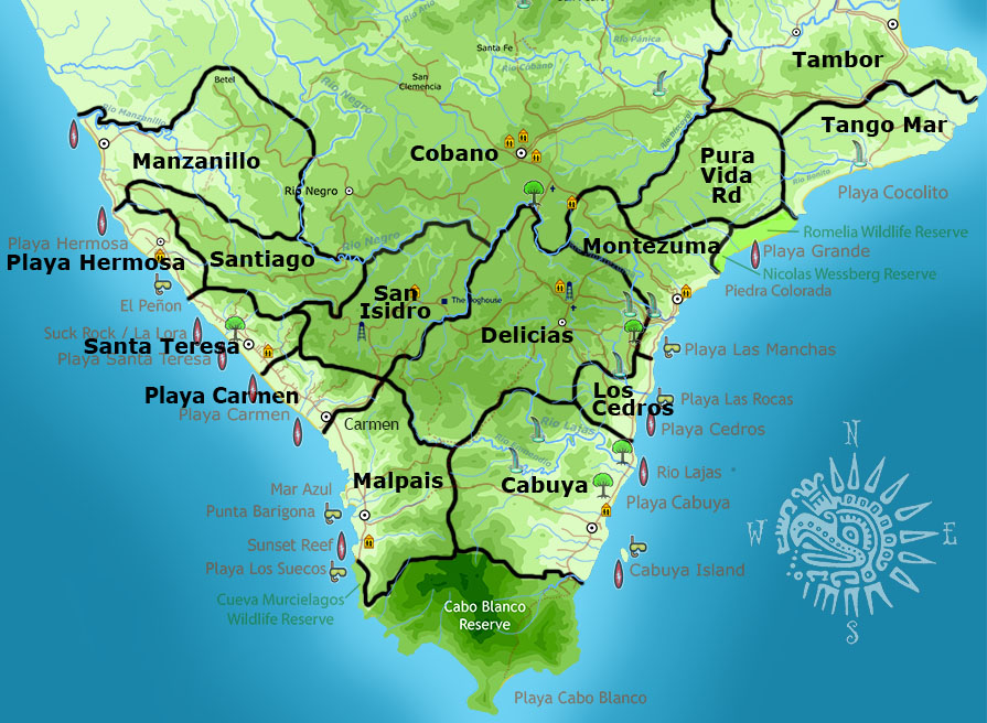 Santa Teresa map